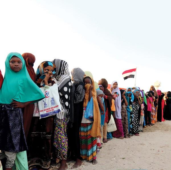 Yemen child refugees