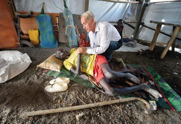 UN Camp, south Sudan, Father Bassano