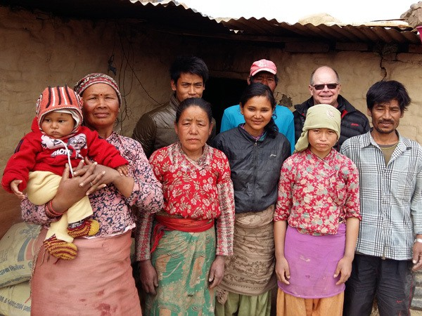 Father Joseph Thaler with Family in Nepal