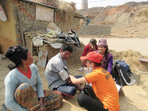 Health care worker in Nepal, Maryknoll