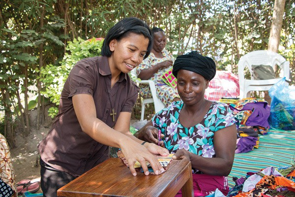 Sister Genie Natividad in Mwanza