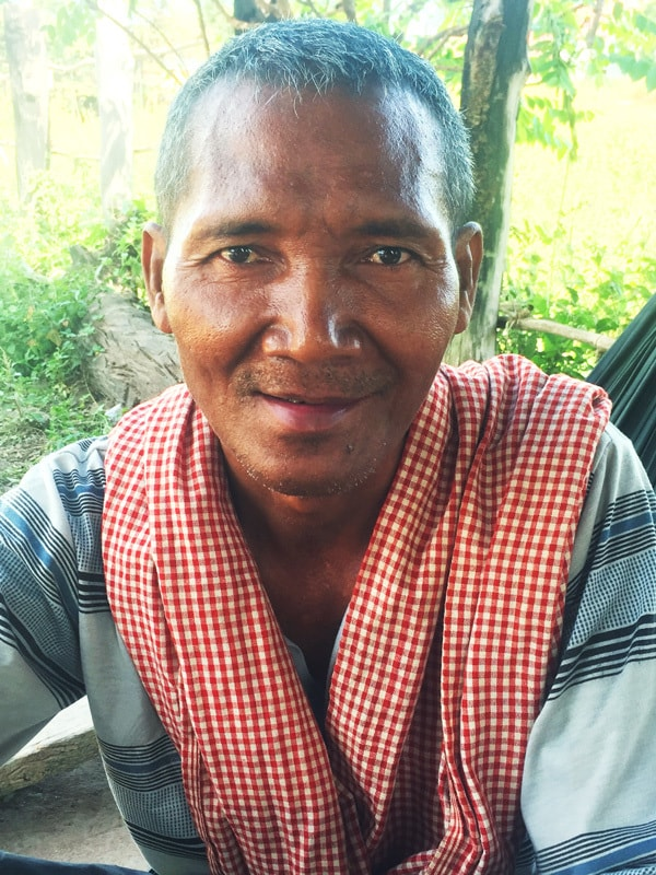 After being chained for 13 years in his Cambodian village because of untreated mental illness, Kong Chhoeung is now a calm, happy person since a Maryknoll Mental Health team got him access to anti-psychotic medication.