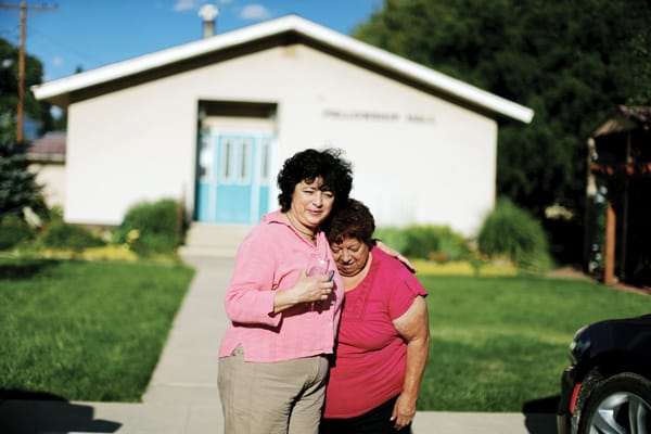 Undocumented immigrant Rosa Sabido, left, who was given sanctuary at a United Methodist Church in Colorado, says goodbye to her mother, a naturalized U.S. citizen.