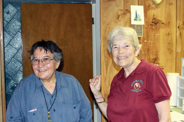 Maryknoll Sisters Lelia Mattingly and Margaret Sierra serve on the U.S./Mexico border in El Paso, Texas.