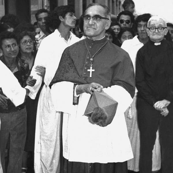 Archbishop Romero joined his beloved people in a procession in San Salvador.