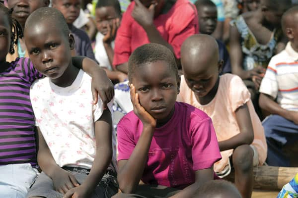 Forced to do nothing is the biggest punishment for refugee kids such as these South Sudanese refugees.