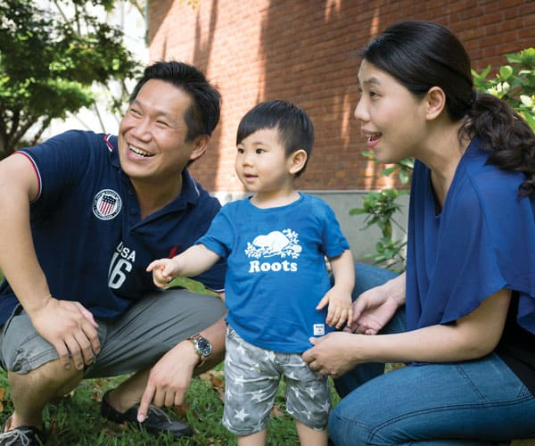 Father Doyle Helps Foster Catholic Friendship and Love in Taiwan: Robert Tsai and Kristin Hsieh, who met through Project Cana, with their son, Thomas. (Nile Sprague/Taiwan)
