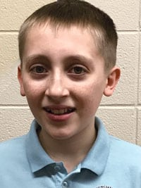 Ian Roskuszka, a seventh-grader at Annunciation BVM Catholic School in Aurora, Ill., wins third place in Division I among student essay winners 2018.