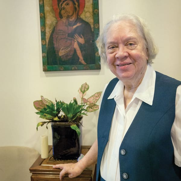 AHRC and Maryknoll Sister: After 35 years in the field of medicine, Maryknoll Sister Marya Zaborowski began working as an editor for a human rights organization in Asia. (N. Sprague/Hong Kong)