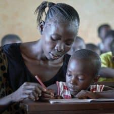 Training teachers in South Sudan