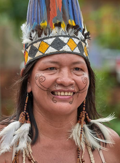 Amazonian faces of the Church: Marta Nicanor Alfredo is a Tikuna woman in Manaus, Brazil. Her family moved to the city decades ago from a forest village in the Alto Solimoes region of the Amazon. (CNS, P. Jeffrey/Brazil)