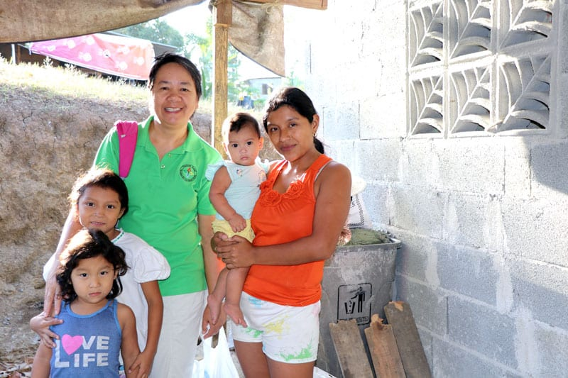 For Elizabeth Pineda, having a solid one-room house for her family has been a blessing because it means the possibility of a better future for her three daughters.