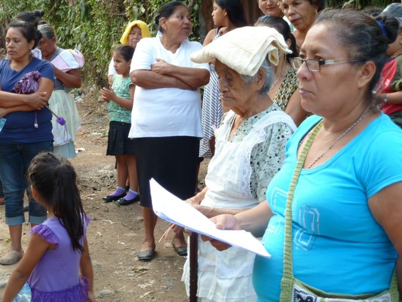 Via Crucis of Hope in El Salvador- Iris at Via Crucis in La Esperanza