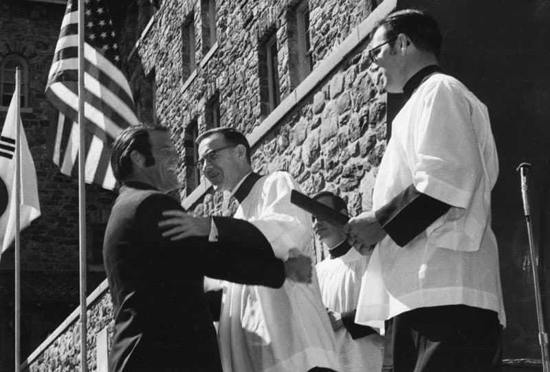 Father Henehan was ordained a Maryknoll priest in 1965. (Maryknoll Mission Archives)