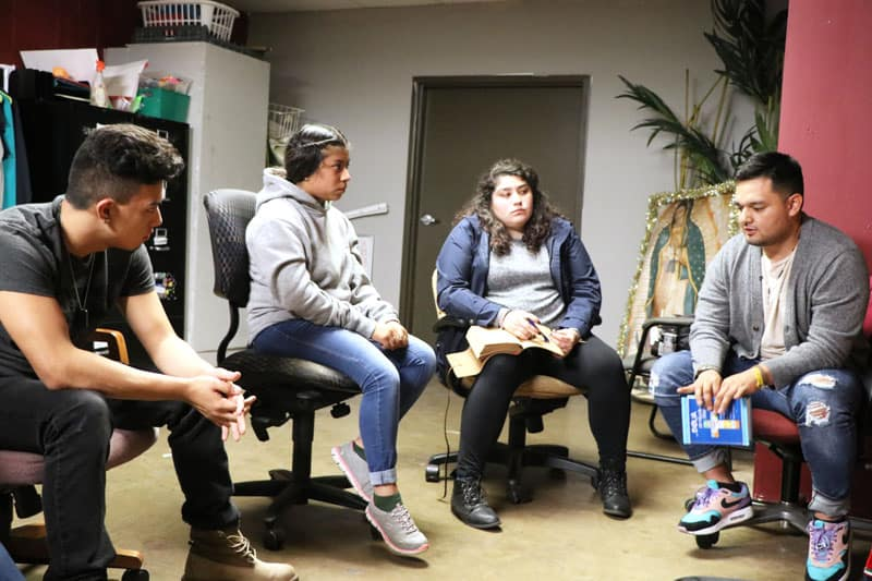 During the Extraordinary Month of Mission in October 2019, young adults spent an evening planning how to talk to teenagers about responding to God's call. (Maria-Pia Negro Chin/U.S.)