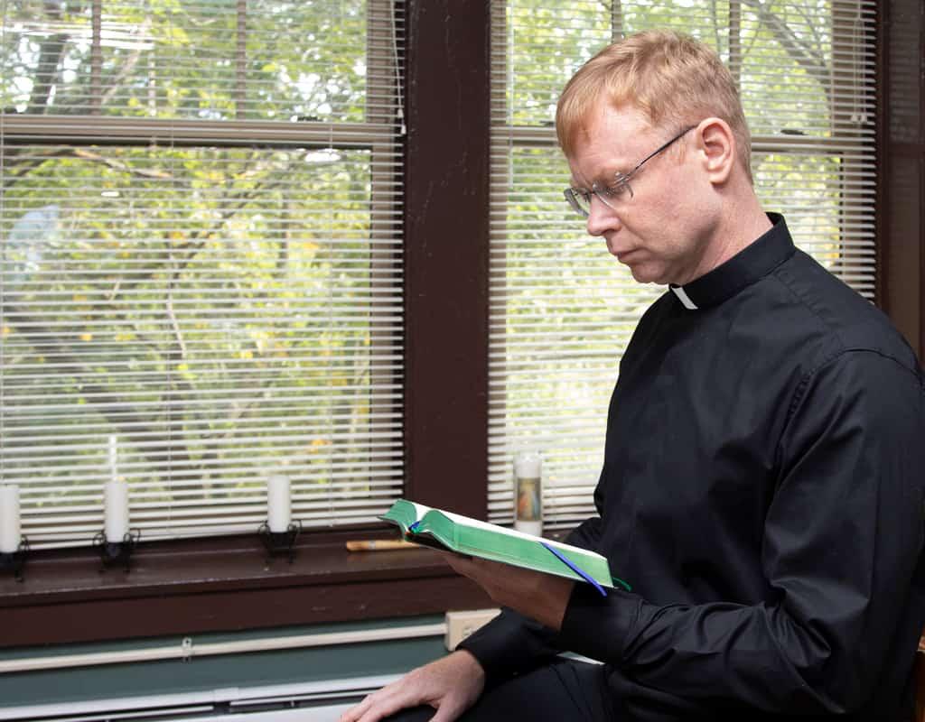 Deacon Gregory McPhee prays each day for God's direction. (Octavio Duran/U.S.)