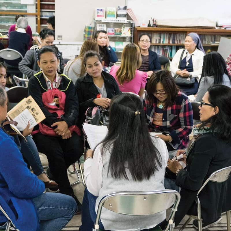Kalakasan offers diverse workshops and self-help groups to empower migrant women who were victims of domestic violence in Japan. (Courtesy of Kalakasan Center/Japan)