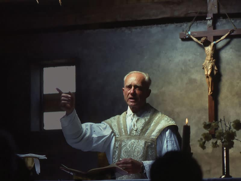 Father Joseph Cappel proclaimed the Gospel in word and deed for more than 50 years in his parish, Nuestra Señora del Rosario, in Curepto. (Maryknoll Mission Archives/Chile)