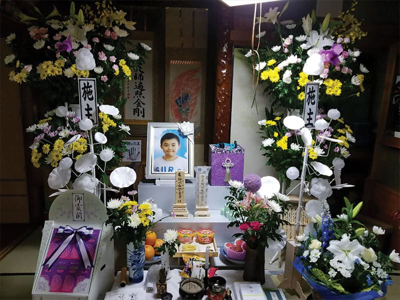 Memorial for Yuki, a 13-year-old whom Sister Kathleen Reiley helped and who died of cancer. (Courtesy of Kathleen Reiley/Japan)