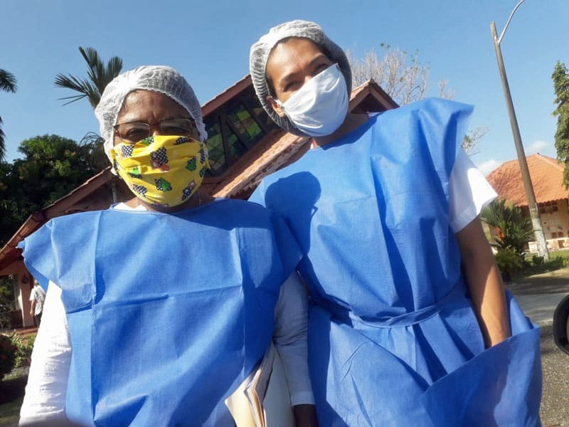 Caretakers at Fundación Nueva Vida, an elder care facility in Panama, are taking precautions to ensure the health of their residence amid the coronavirus pandemic. (Courtesy of Geraldine Brake/Panama)